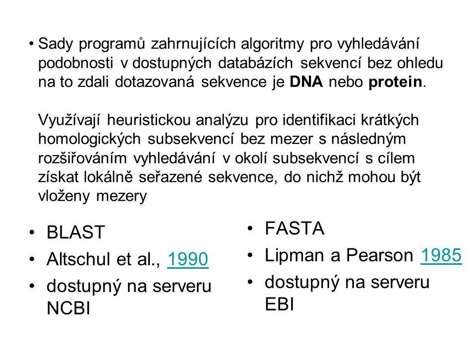 dostupný na serveru EBI BLAST Altschul et al., 1990