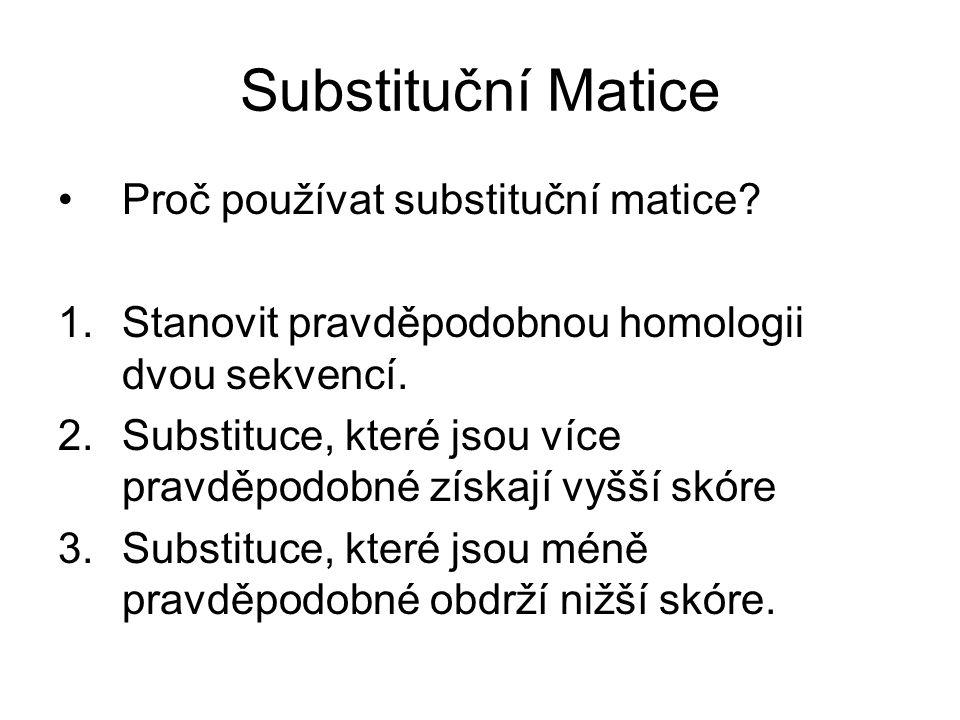 Substituční Matice Proč používat substituční matice