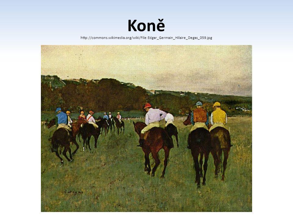Koně http://commons.wikimedia.org/wiki/File:Edgar_Germain_Hilaire_Degas_059.jpg