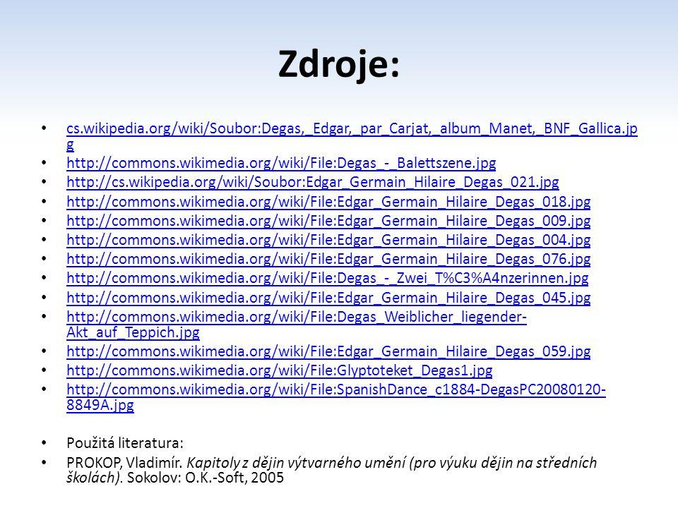 Zdroje: cs.wikipedia.org/wiki/Soubor:Degas,_Edgar,_par_Carjat,_album_Manet,_BNF_Gallica.jpg.