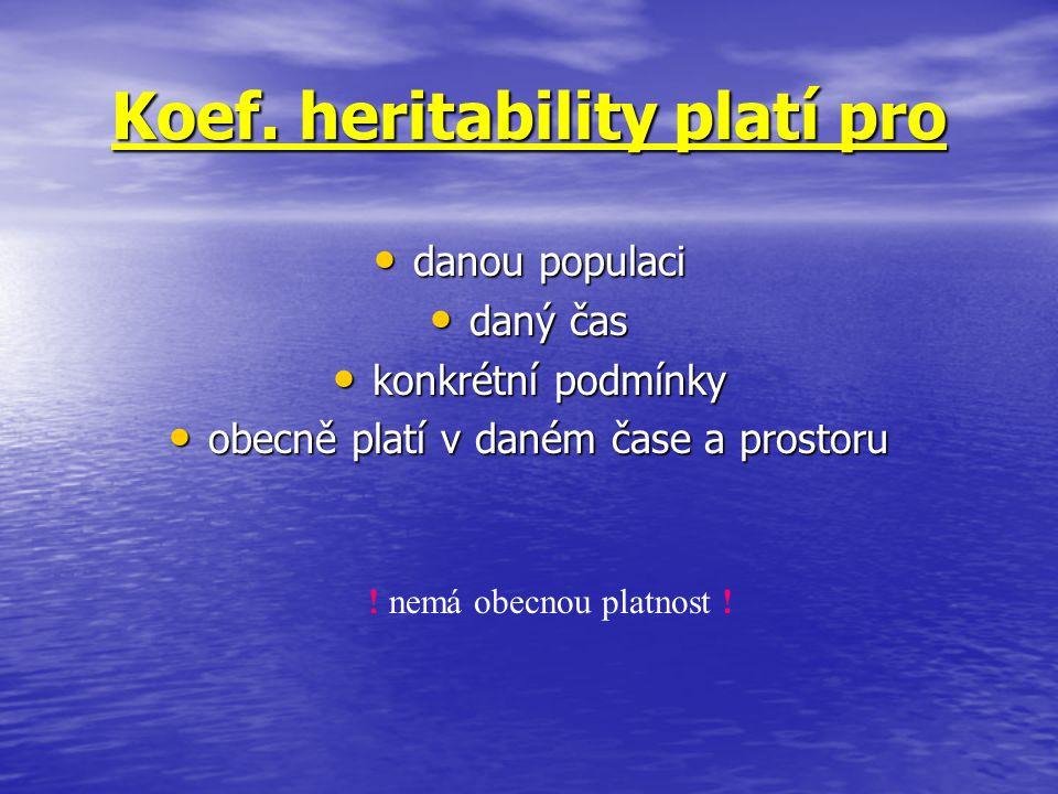 Koef. heritability platí pro