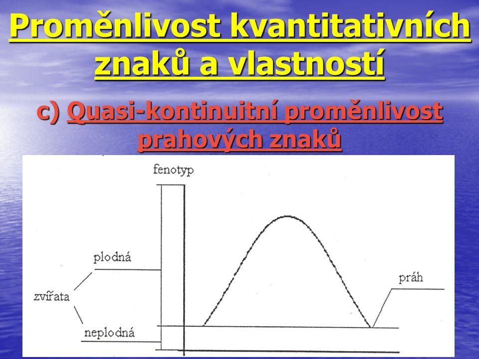 Proměnlivost kvantitativních znaků a vlastností