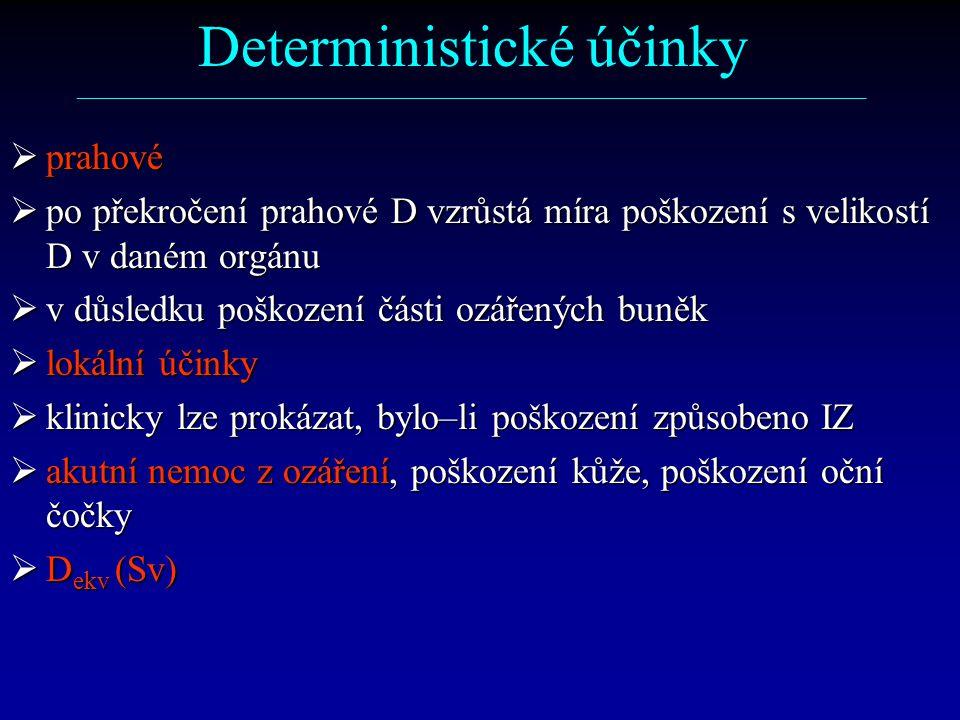 Deterministické účinky