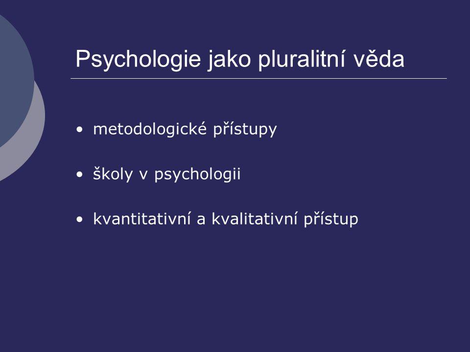 Psychologie jako pluralitní věda