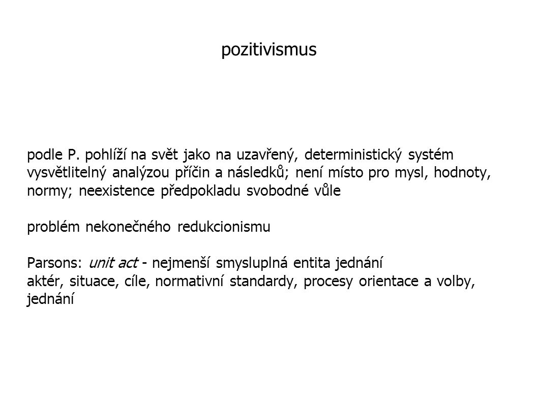 pozitivismus
