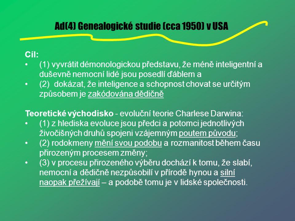 Ad(4) Genealogické studie (cca 1950) v USA