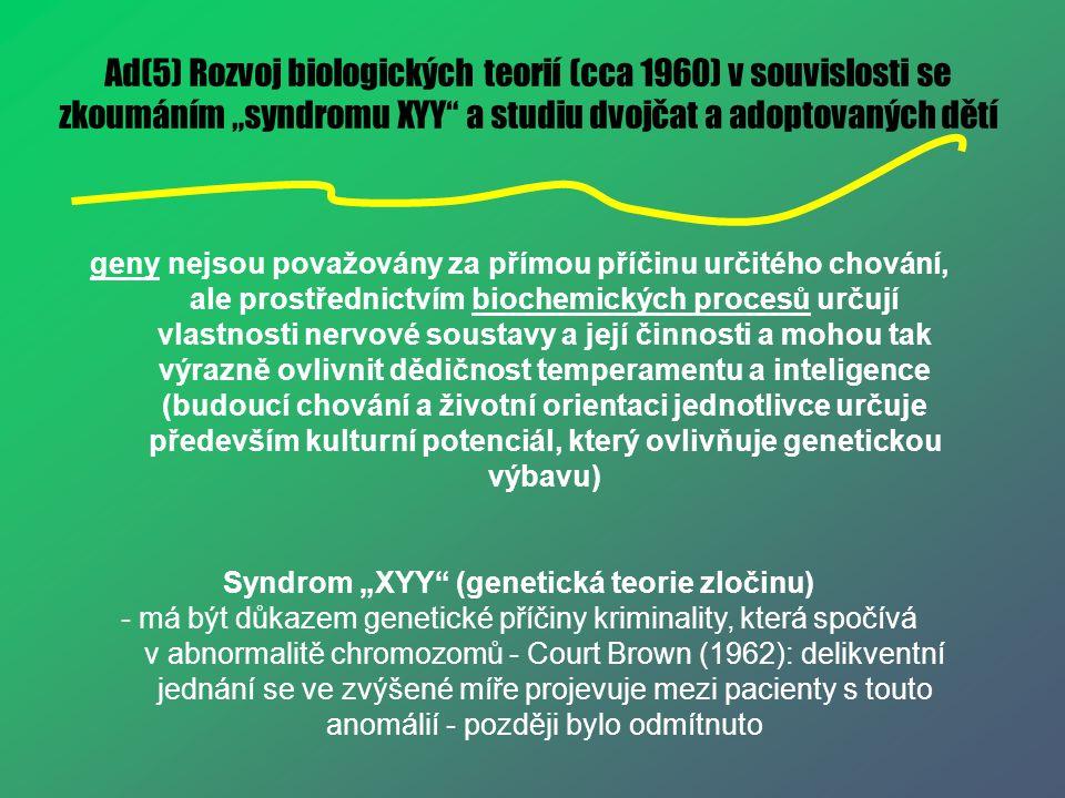 """Syndrom """"XYY (genetická teorie zločinu)"""
