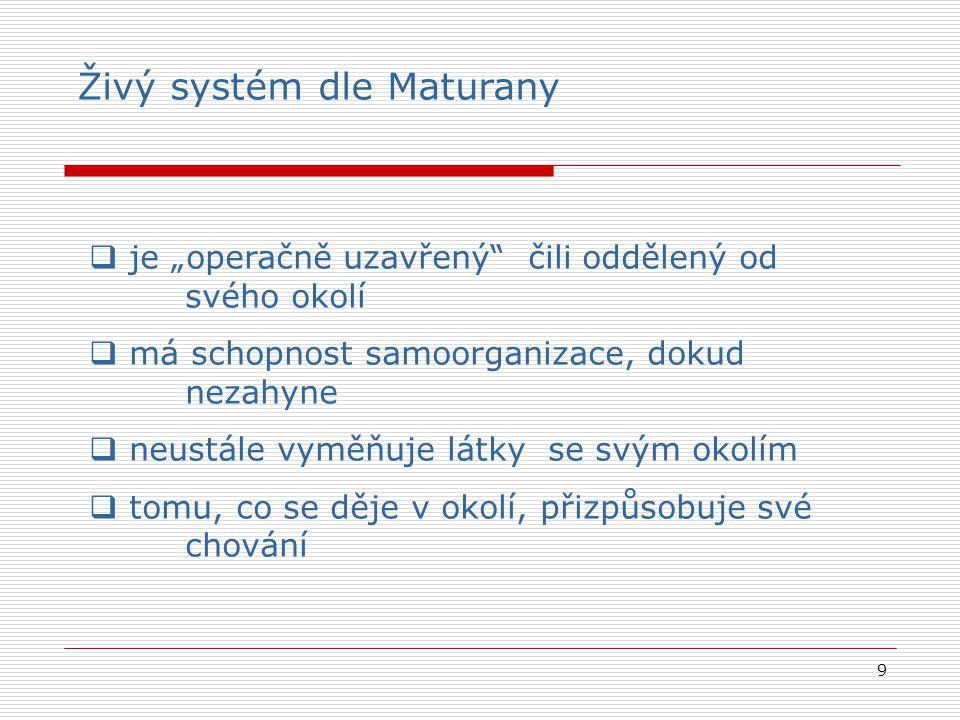 Živý systém dle Maturany