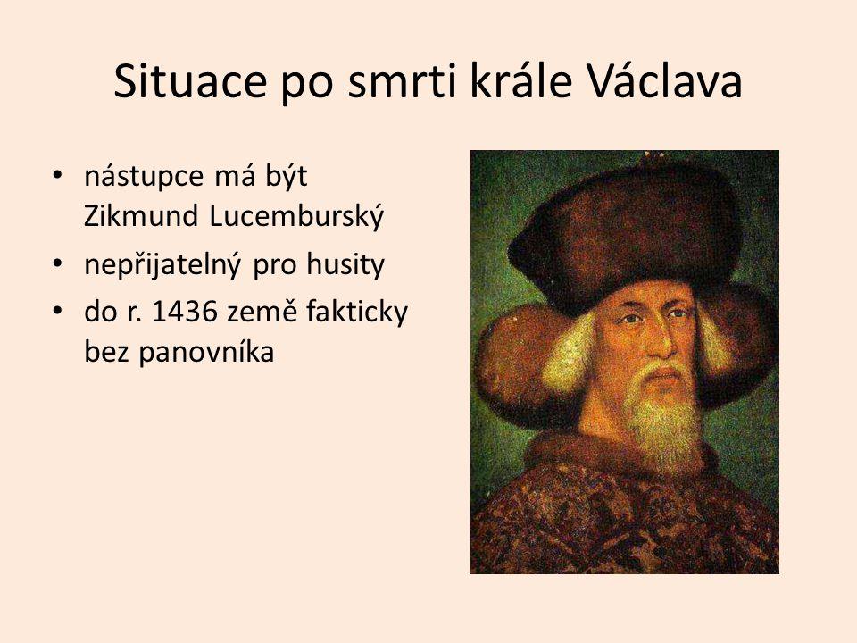 Situace po smrti krále Václava