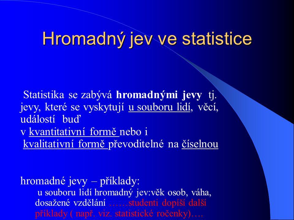 Hromadný jev ve statistice