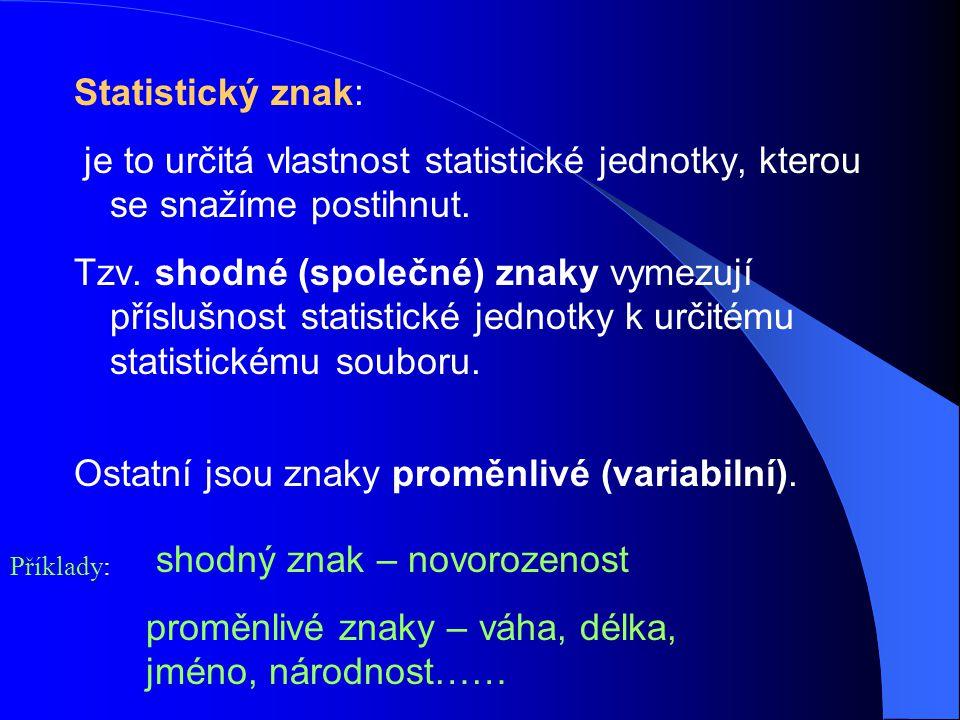 Ostatní jsou znaky proměnlivé (variabilní).