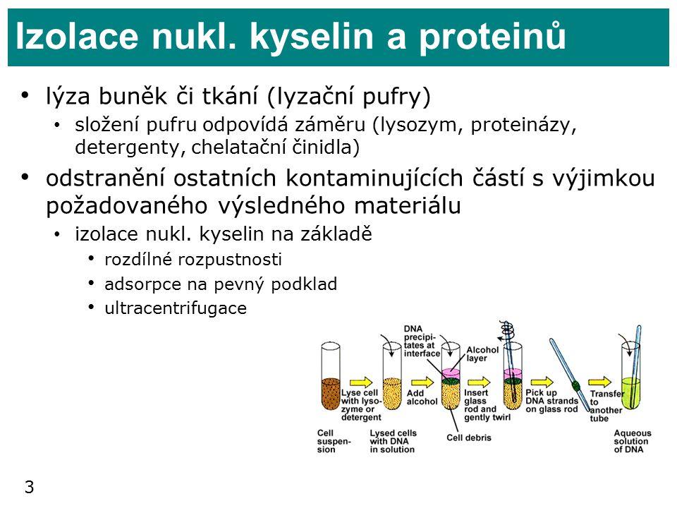 Izolace nukl. kyselin a proteinů