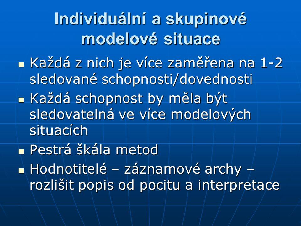Individuální a skupinové modelové situace