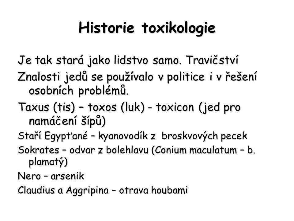 Historie toxikologie Je tak stará jako lidstvo samo. Travičství