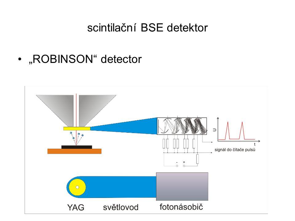 scintilační BSE detektor