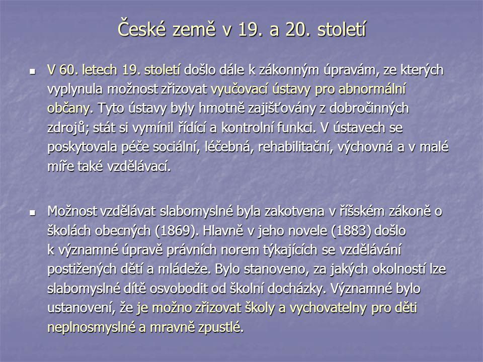 České země v 19. a 20. století