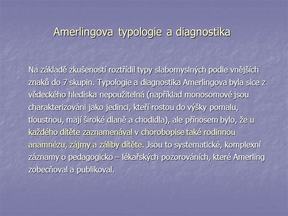 Amerlingova typologie a diagnostika