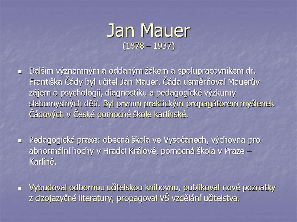 Jan Mauer (1878 – 1937)