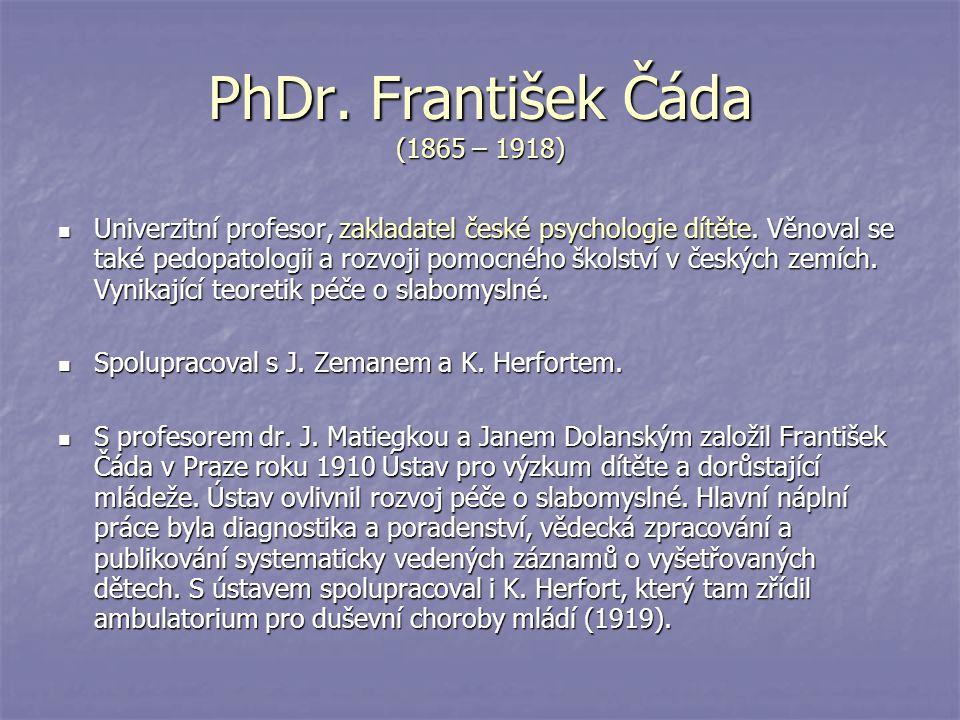 PhDr. František Čáda (1865 – 1918)