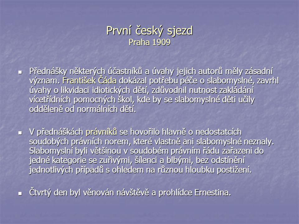 První český sjezd Praha 1909