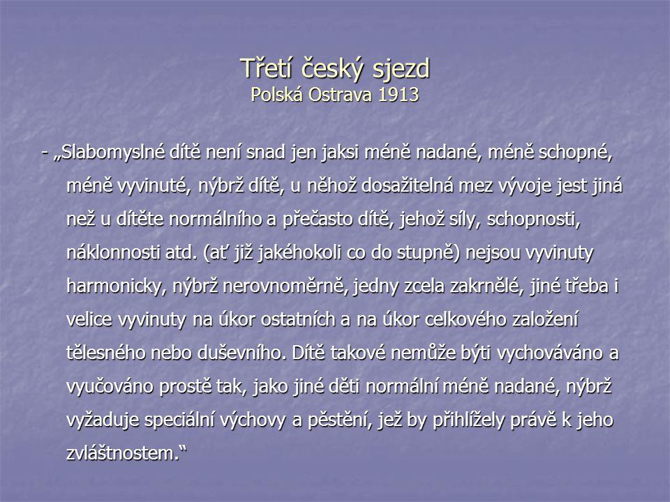 Třetí český sjezd Polská Ostrava 1913