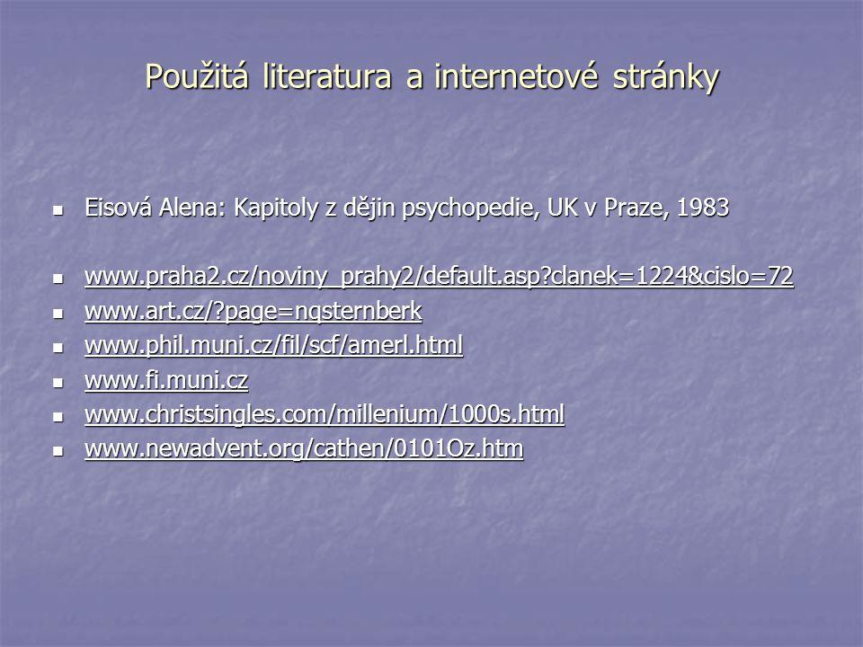 Použitá literatura a internetové stránky