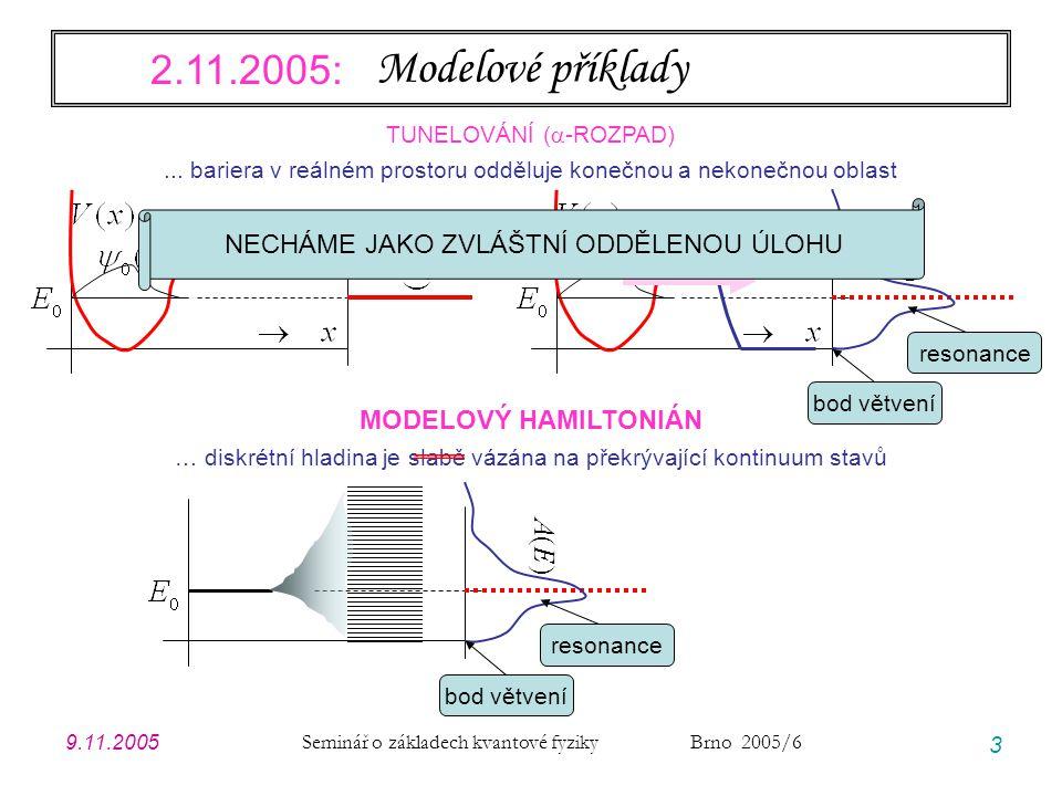 Modelové příklady 2.11.2005: A(E) A(E) A(E)