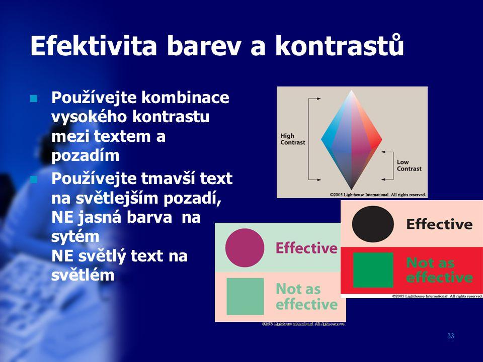 Efektivita barev a kontrastů