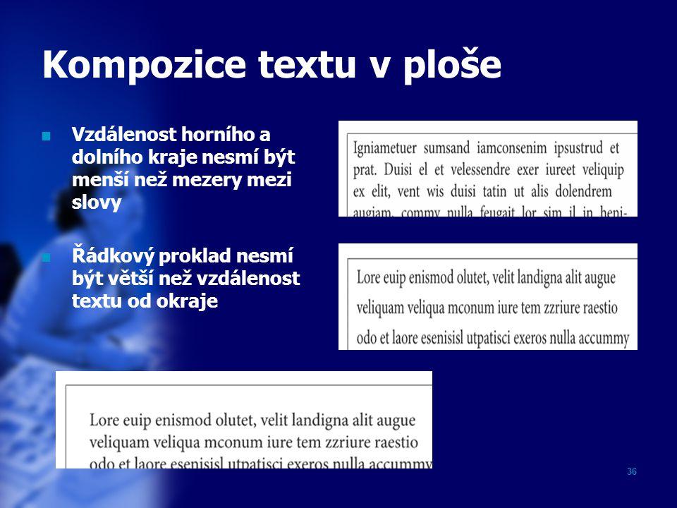 Kompozice textu v ploše