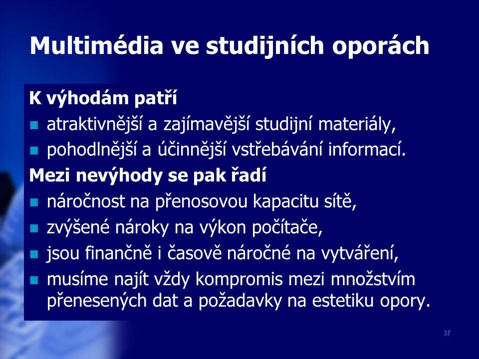 Multimédia ve studijních oporách