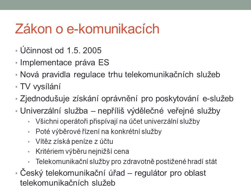 Zákon o e-komunikacích
