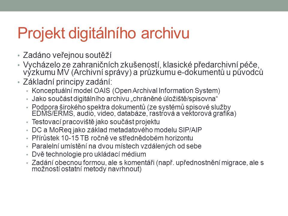 Projekt digitálního archivu