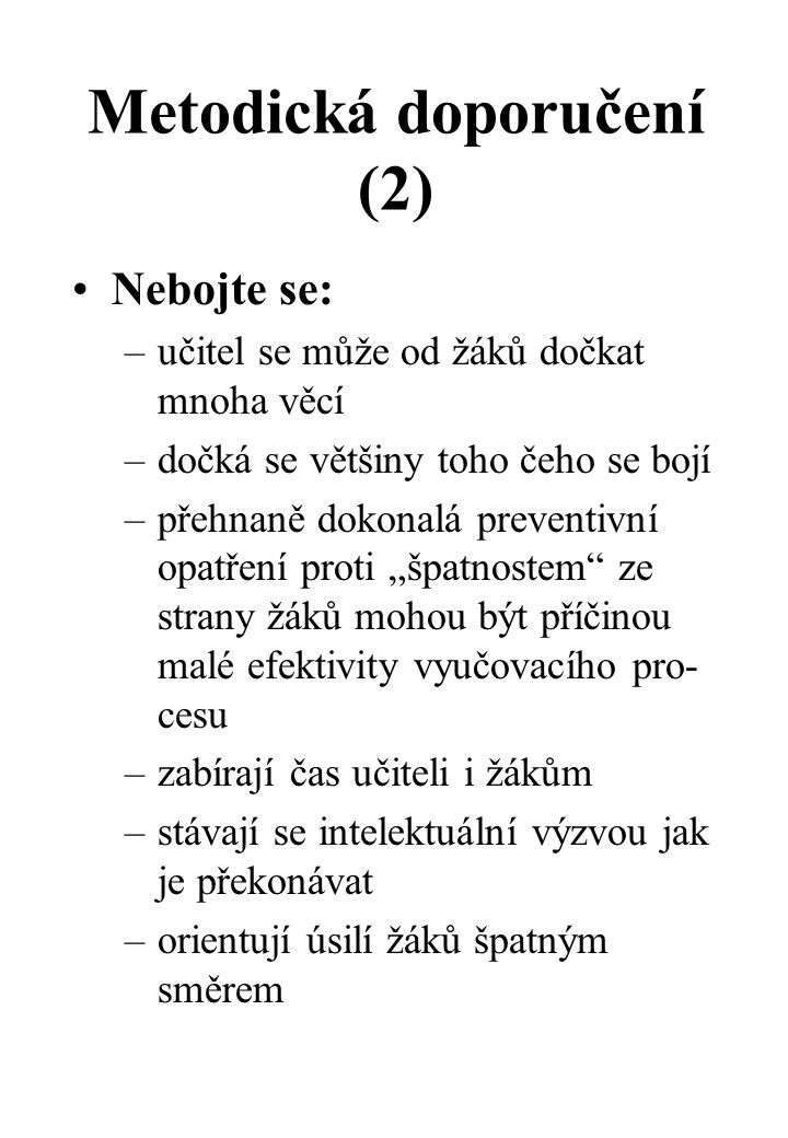 Metodická doporučení (2)