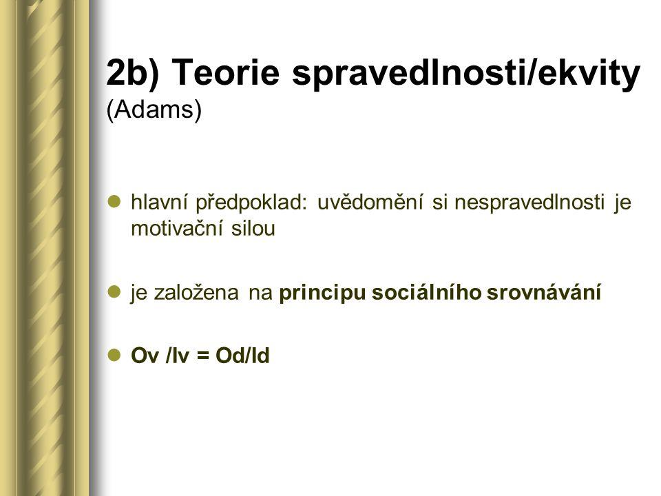2b) Teorie spravedlnosti/ekvity (Adams)