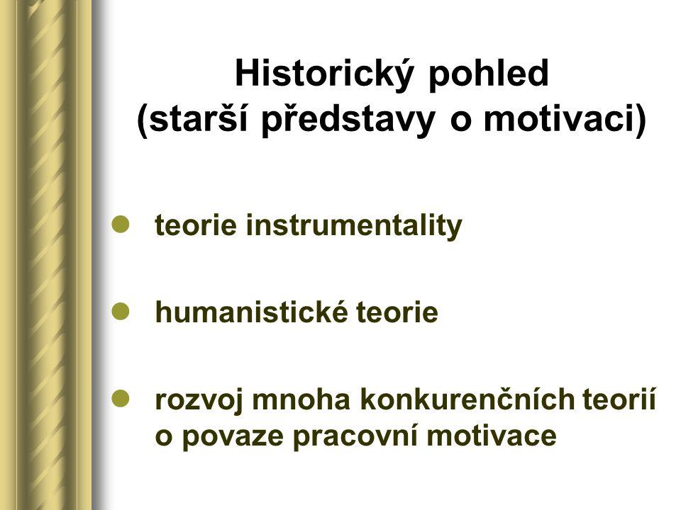 Historický pohled (starší představy o motivaci)