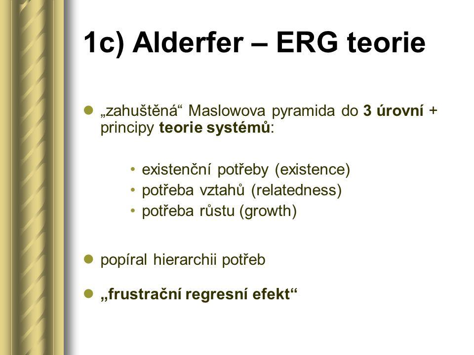 1c) Alderfer – ERG teorie
