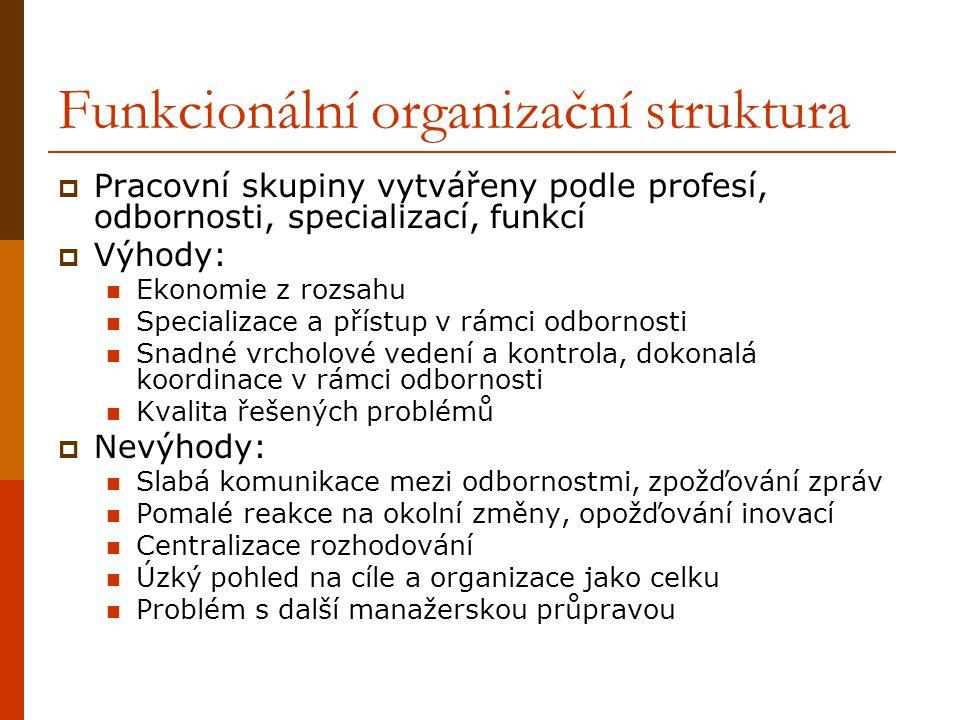 Funkcionální organizační struktura