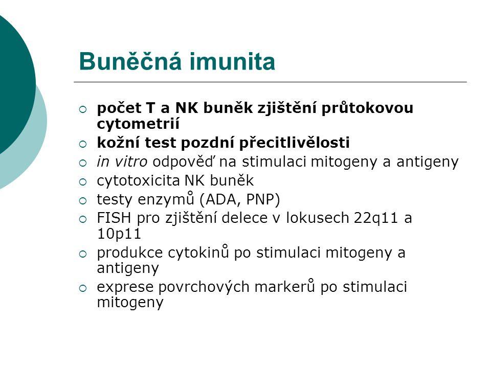 Buněčná imunita počet T a NK buněk zjištění průtokovou cytometrií