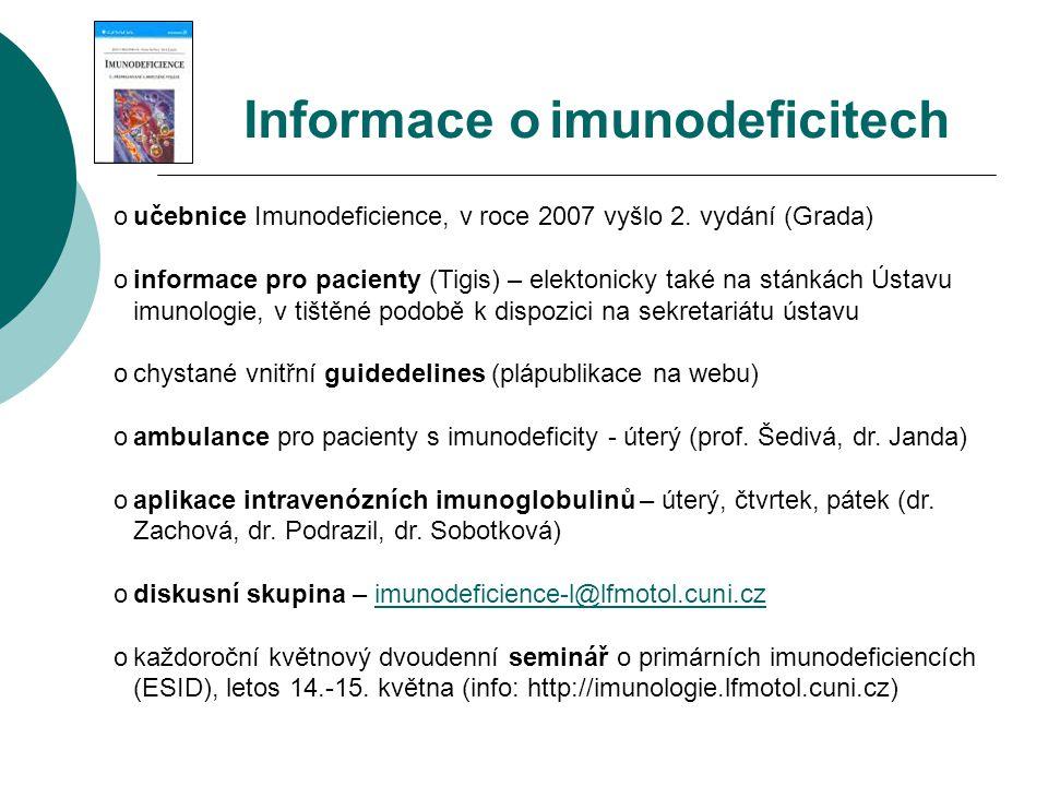 Informace o imunodeficitech