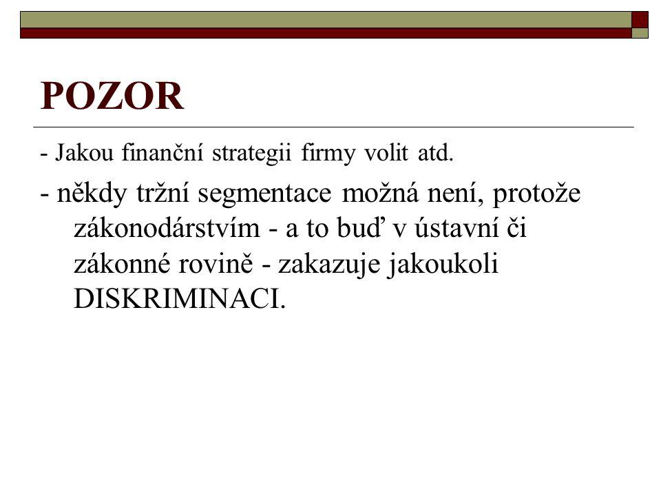 POZOR - Jakou finanční strategii firmy volit atd.