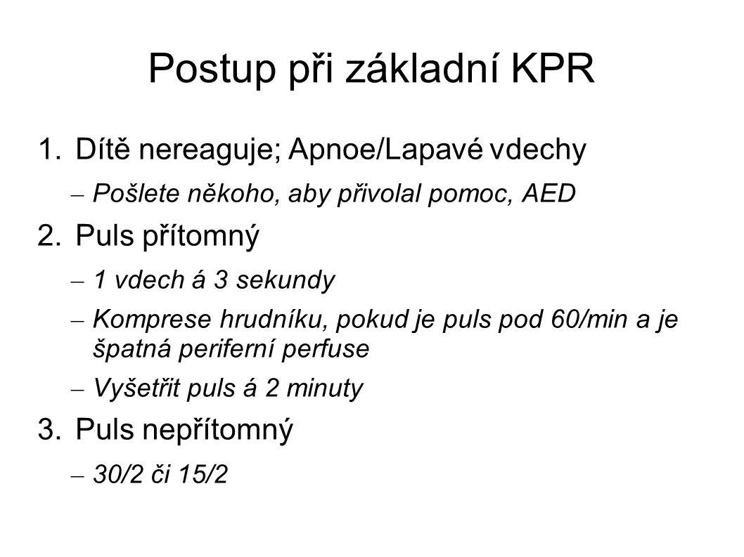 Postup při základní KPR
