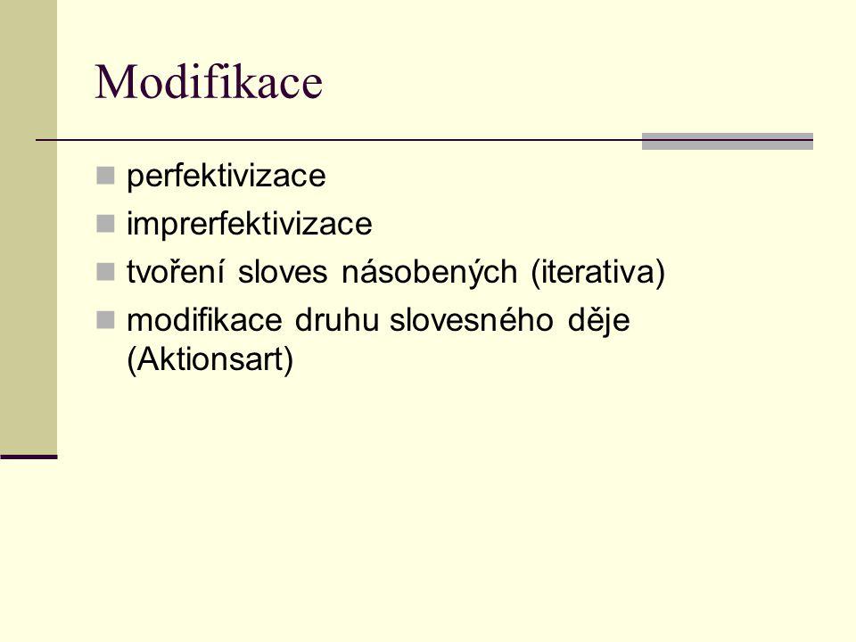 Modifikace perfektivizace imprerfektivizace