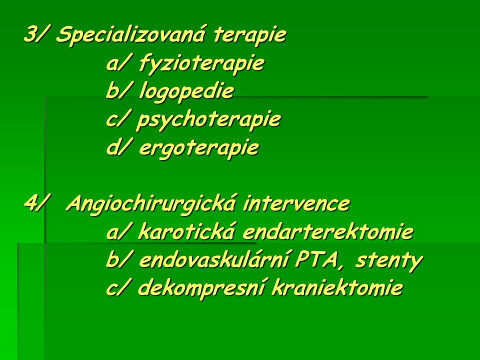 3/ Specializovaná terapie