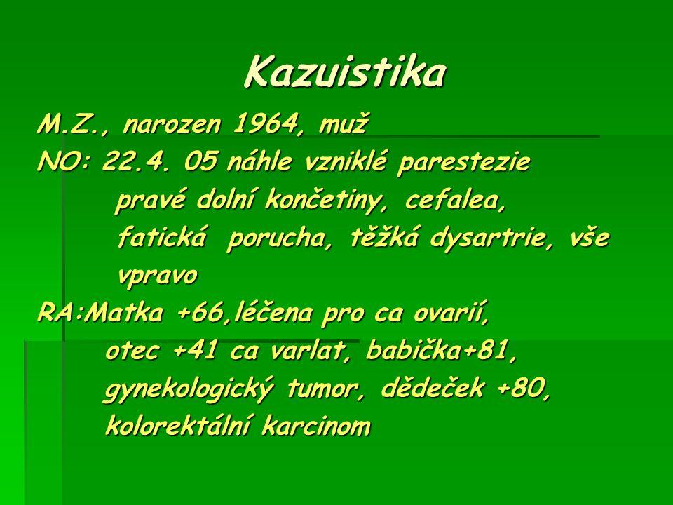 Kazuistika M.Z., narozen 1964, muž