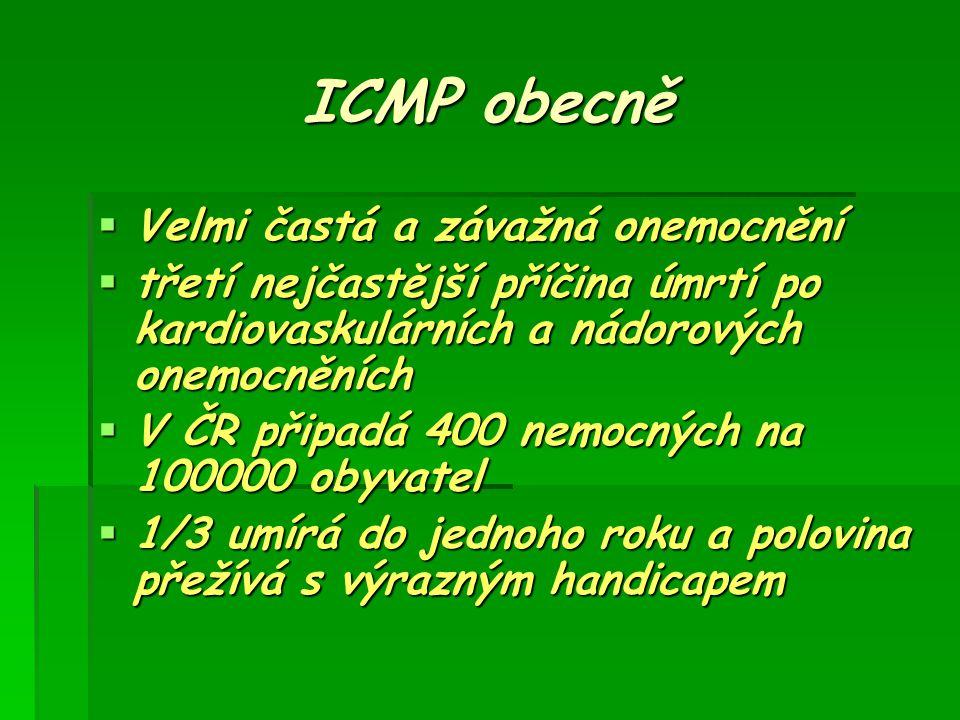 ICMP obecně Velmi častá a závažná onemocnění