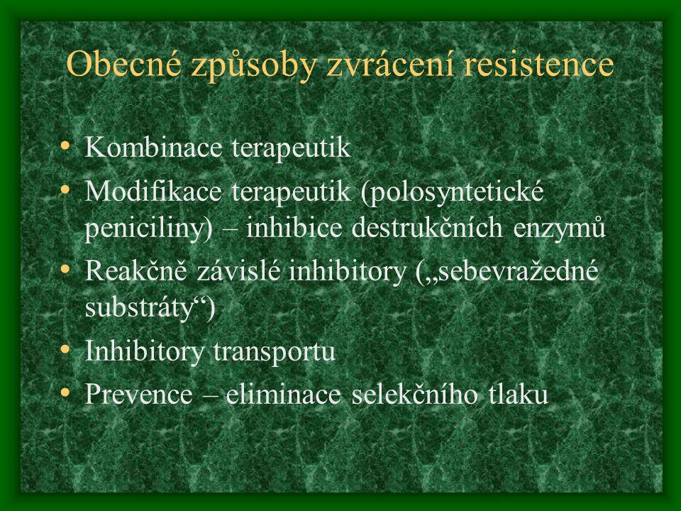 Obecné způsoby zvrácení resistence