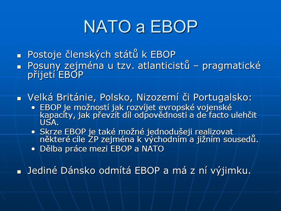 NATO a EBOP Postoje členských států k EBOP