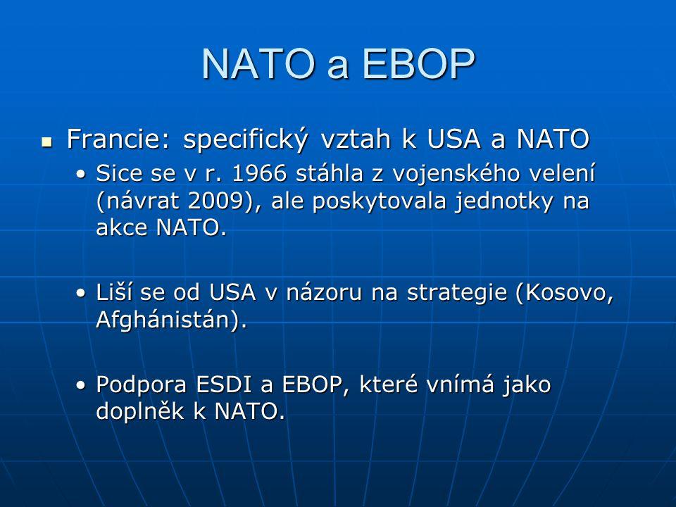 NATO a EBOP Francie: specifický vztah k USA a NATO