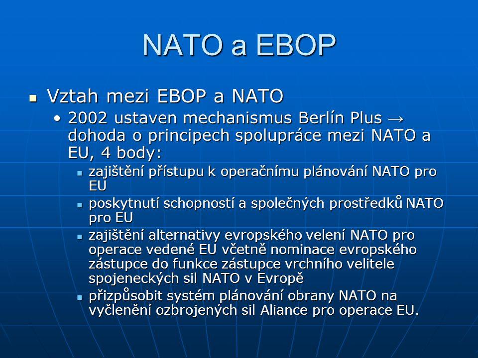 NATO a EBOP Vztah mezi EBOP a NATO