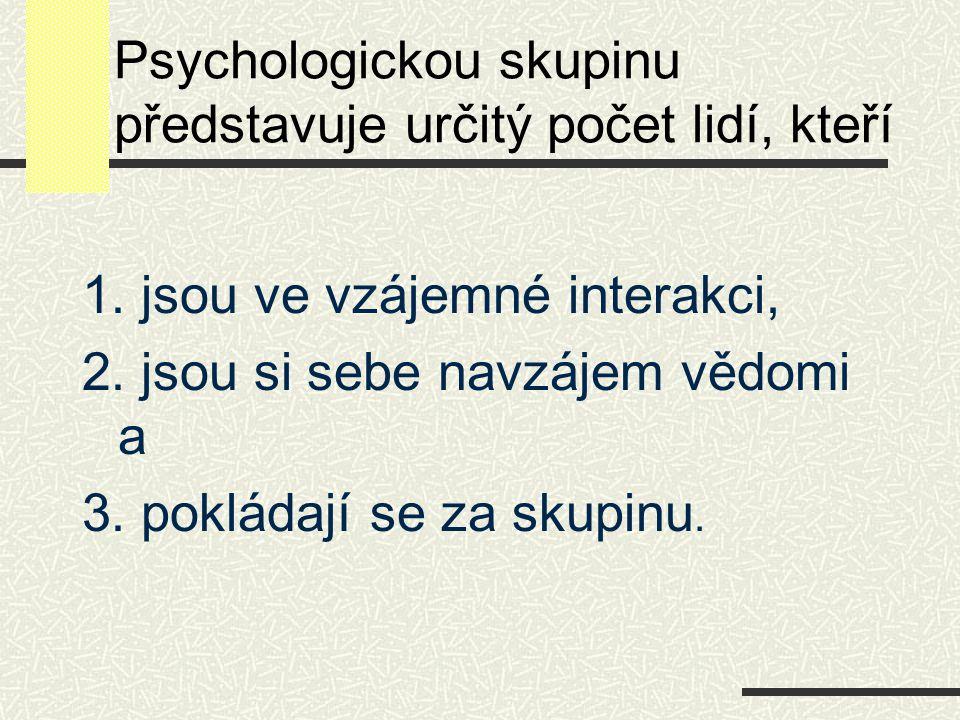 Psychologickou skupinu představuje určitý počet lidí, kteří